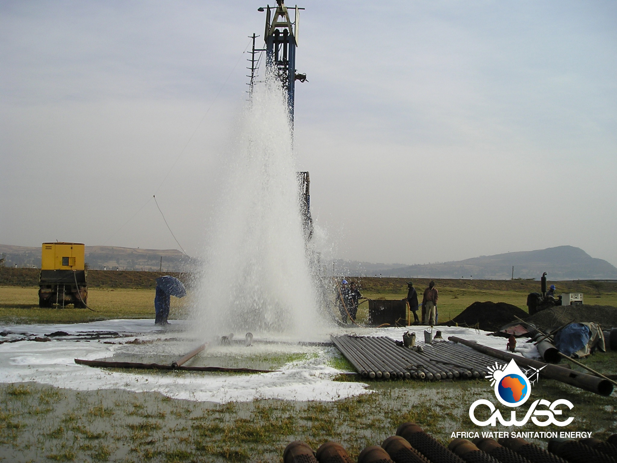 Drilling water wells